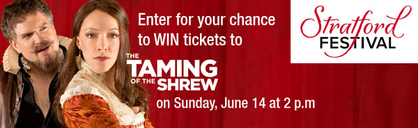 Enter for your chance to WIN tickets to the Taming of the Shrew on Sunday June 14, 2015 at 2pm