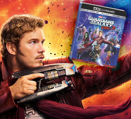 Guardians of the Galaxy 2 bluray Contest