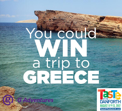 Taste of the Danforth - Trip to Greece Contest