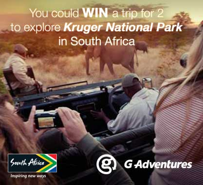 G Adventures Trip to South Africa Contest